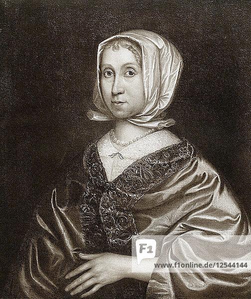 Elizabeth Steward  mother of Oliver Cromwell  17th century  (1899). Artist: Unknown