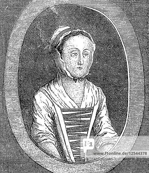 Eliza Canning from the Life  c1753. Artist: Unknown