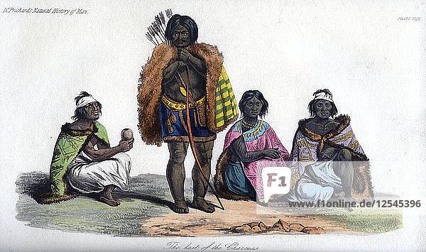 The last of the Charruas  1848. Artist: Unknown