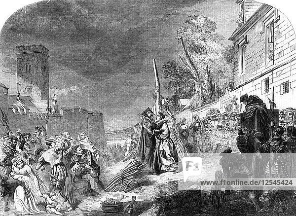 The martyrdom of Ridley and Latimer  Oxford  1856.Artist: George Hayter