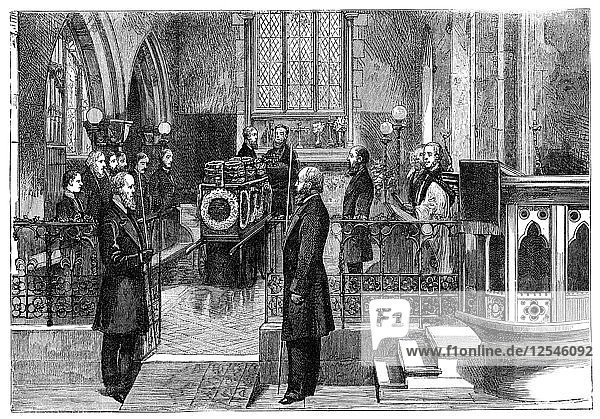 The funeral of Benjamin Disraeli (1804-1881)  British prime minister  late 19th century. Artist: Unknown