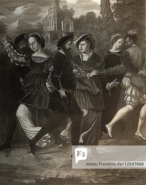 The Dancing Picture  c1532  (1902). Artist: Unknown