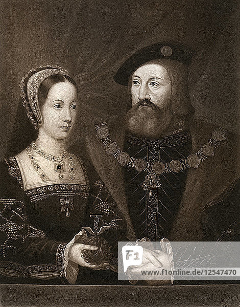 Mary Tudor and Charles Brandon  Duke of Suffolk  1515  (1902). Artist: Unknown