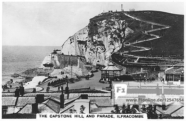 The Capstone Hill  and parade  Ilfracombe  1936. Artist: Unknown