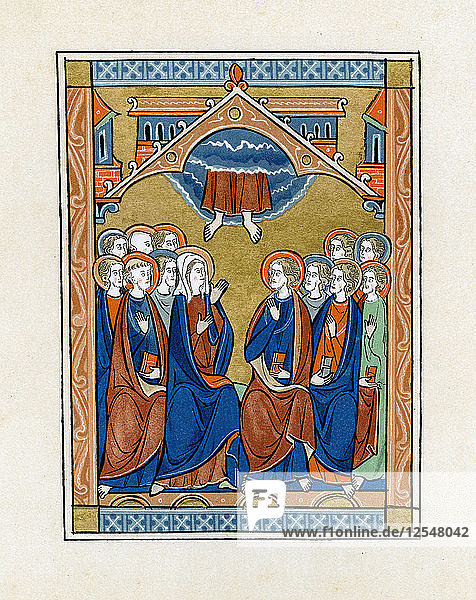 The Ascension  1250-1260. Artist: Unknown