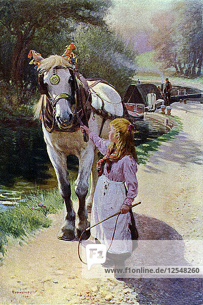The Towing Path  1900 (1902-1903).Artist: Roland Wheelwright