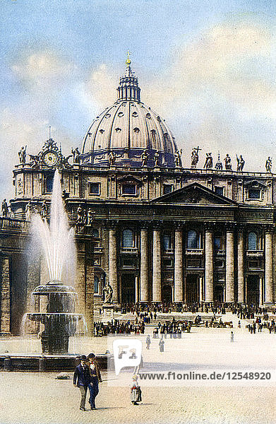 The Basilica of Saint Peter  Rome  1926. Artist: Unknown