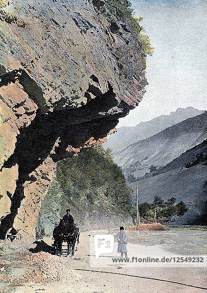 Rock close to the village of Annaour  c1890. Artist: Gillot