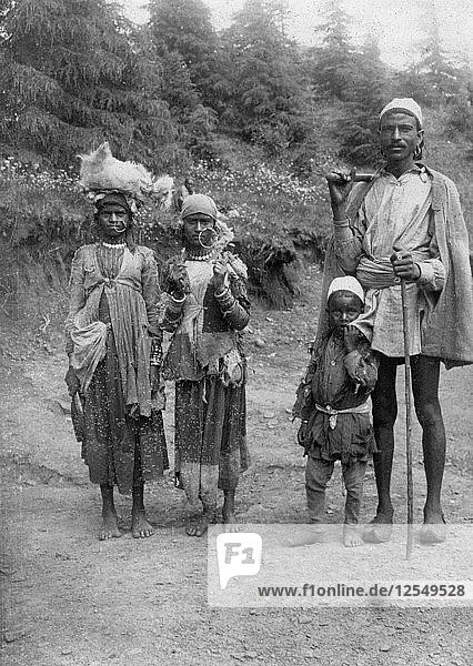 Hill tribe people  Chakrata  1917. Artist: Unknown