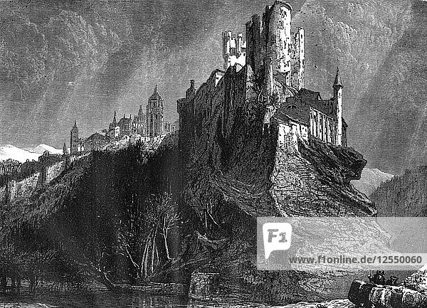 The Alcazar of Segovia  Spain  19th century. Artist: Harry Fenn