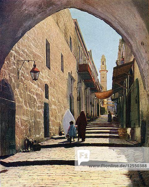 A street in Jerusalem  Israel  1926. Artist: Unknown