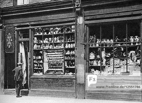 A pawnbrokers shop front  Bow  London  1926-1927.Artist: Whiffin