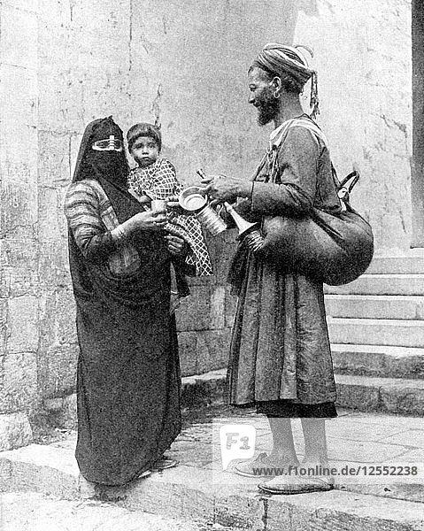 A water seller  Cairo  Egypt  1936.Artist: Donald McLeish