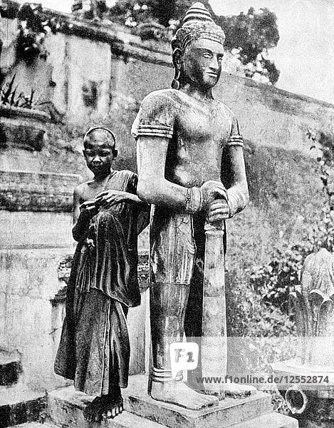 Youthful devotee of the great Buddha  1936.Artist: Ewing Galloway
