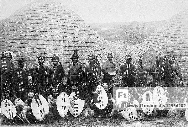 Zulu warriors  Southern Africa  c1875. Artist: Unknown