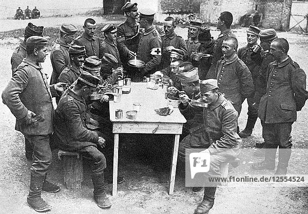 German prisoners of war  First World War  1914-1918  (c1920). Artist: Unknown