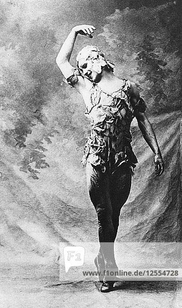 Vaslav Nijinsky  Russian ballet dancer  in Le Spectre de la Rose  Paris  1911  (1930). Artist: Unknown