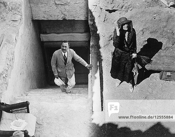 Visitors to the Tomb of Tutankhamun  Valley of the Kings  Egypt  1923. Artist: Harry Burton