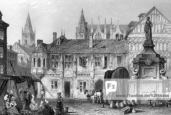 Palace of the Duke of Bedford  Rouen  France  19th century.Artist: John Godfrey