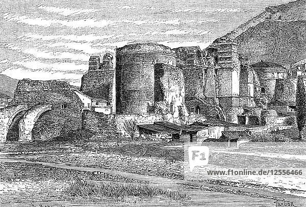 The ruins of the basilica at Pergamon  Turkey  1895. Artist: Unknown