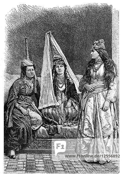 Druze Princess and Lady of the Lebanon  1895. Artist: Unknown
