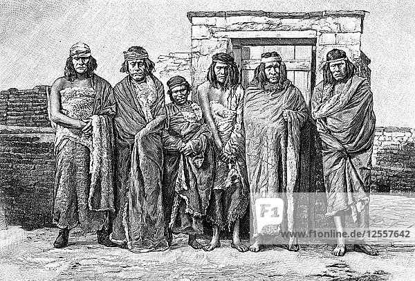 A group of Patagonians  Argentina  1895. Artist: Unknown