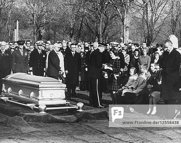 The funeral of US astronaut Virgil Grissom  Arlington National Cemetery  Washington  February 1967. Artist: Unknown