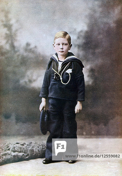 The Duke of York  aged six  1901-1902 (1923). Artist: Unknown