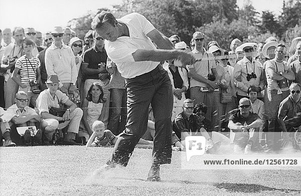 American golfer Arnold Palmer playing at Lidingö Golf Club  Sweden  1968. Artist: Unknown