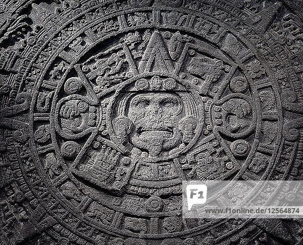 Aztec calendar stone  Mexico  Late Postclassic period  c1200-1521. Artist: Werner Forman