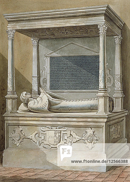 Monument to Sibel Penn on the north side of the chancel at St Mary  Hampton  Middlesex  c1810. Artist: Anon