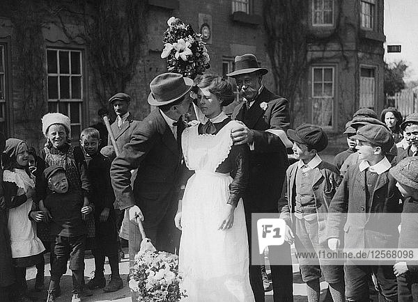 Kissing Day  Hungerford  Berkshire  c1900s(?). Artist: Unknown