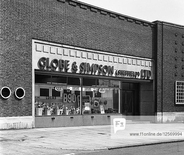 Globe & Simpson shop window  Nottingham  Nottinghamshire  1961. Artist: Michael Walters