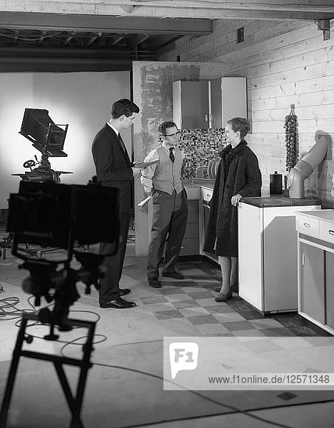 Designer in a photographic studio  Mexborough  South Yorkshire  1964. Artist: Michael Walters