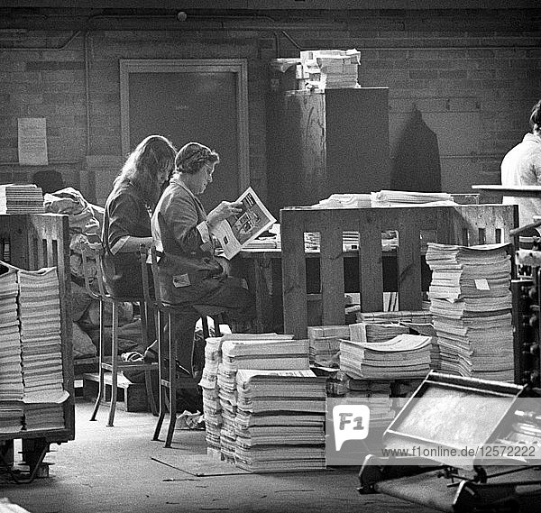 Binding room at the White Rose Press  Mexborough  South Yorkshire  1968. Artist: Michael Walters