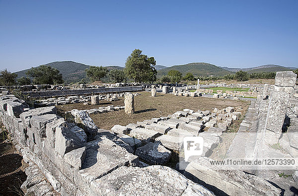 The asclepeion and the bouleuterion at Messene  Greece. Artist: Samuel Magal