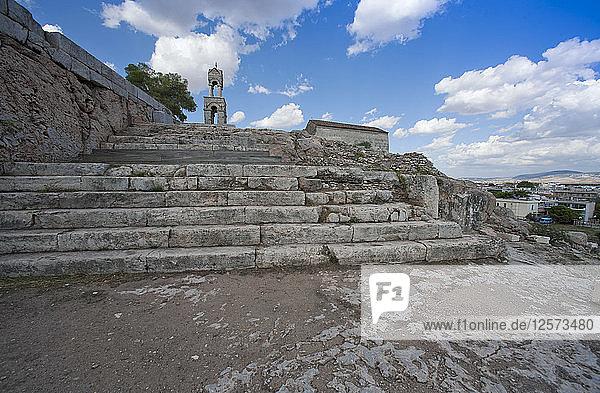 The acropolis at Eleusis  Greece. Artist: Samuel Magal