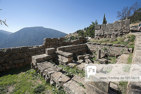 The Monument of the Tarentines  Delphi  Greece. Artist: Samuel Magal