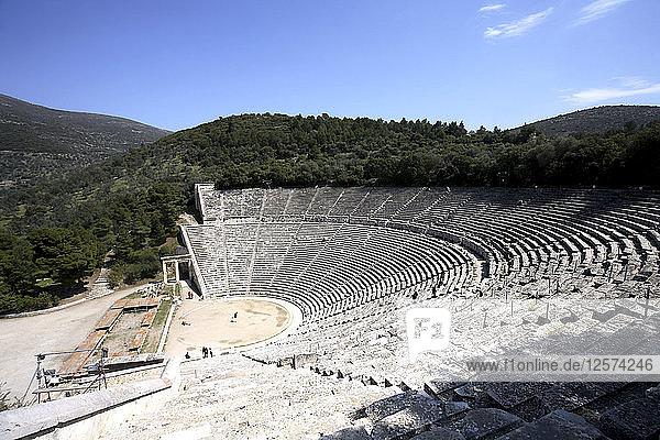 The Greek theatre at Epidauros  Greece. Artist: Samuel Magal