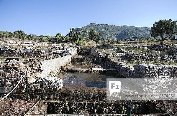 A water tunnel at Messene  Greece. Artist: Samuel Magal