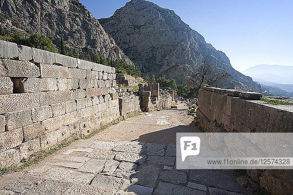 The Sacred Way  Delphi  Greece. Artist: Samuel Magal