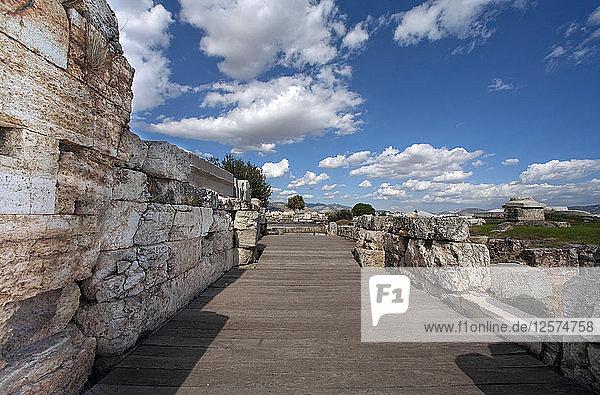 The South Gate at Eleusis  Greece. Artist: Samuel Magal