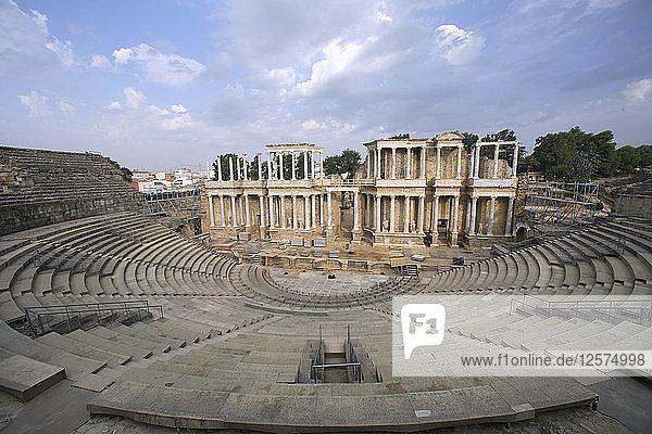 The Roman theatre in Merida  Spain  2007. Artist: Samuel Magal
