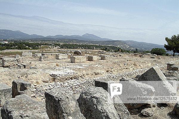 The Sanctuary of Poseidon at Isthmia  Greece. Artist: Samuel Magal