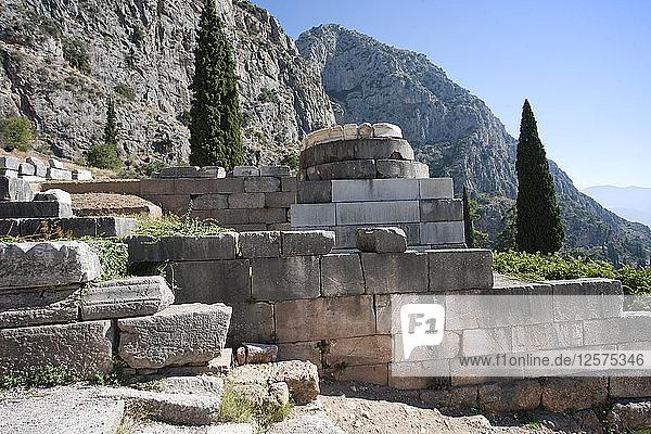The Tripod of Palatae  Delphi  Greece. Artist: Samuel Magal
