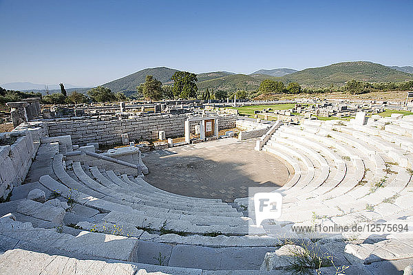 The odeon of the asclepeion at Messene  Greece. Artist: Samuel Magal