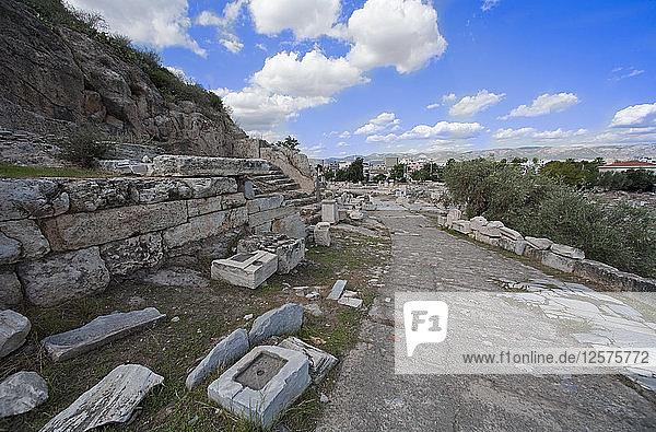 The Sacred Way  Eleusis  Greece. Artist: Samuel Magal