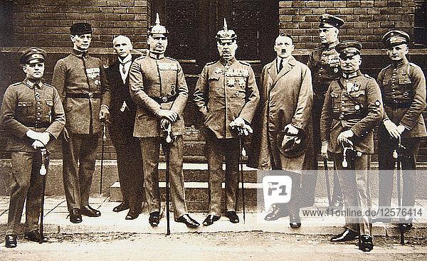 Adolf Hitler standing next to General Erich Ludendorff  Germany  11 November 1921. Artist: Unknown