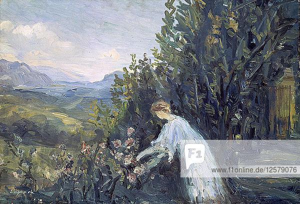 Lady in the Garden  1909-1911. Artist: Pierre Laprade