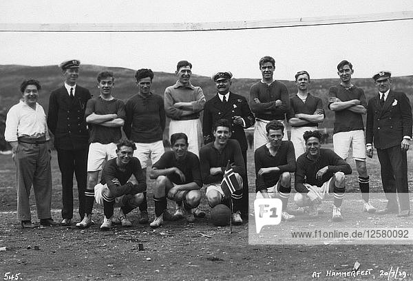 Football team  Hammerfest  northern Norway  20th July 1929. Artist: Unknown
